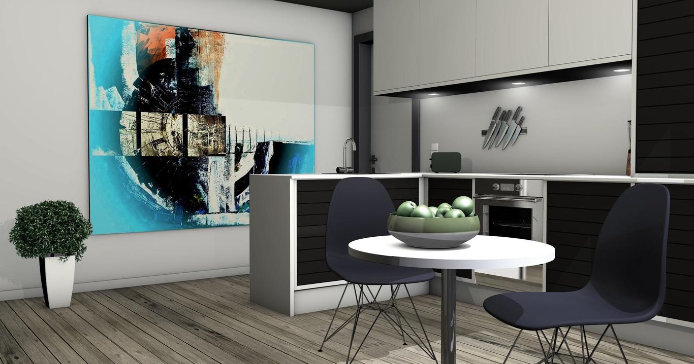 Interior de una vivienda contemporánea